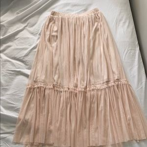 Pastel Pink Toole Skirt